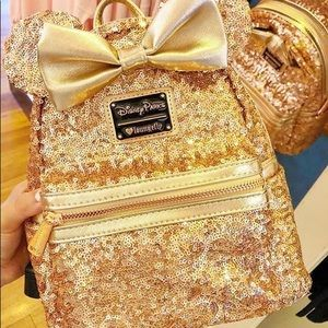 Disney Parks backpack rose gold